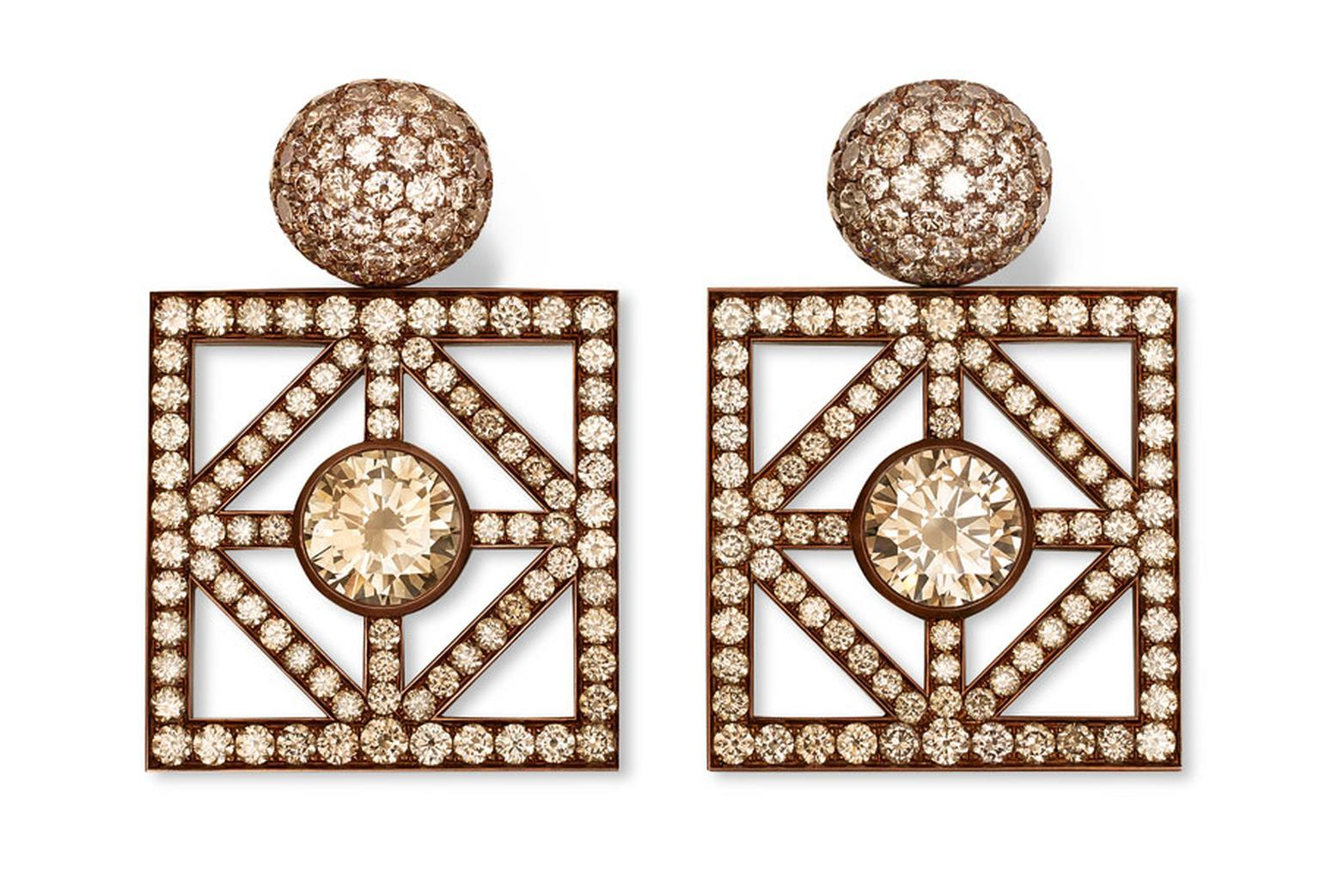 Hemmerle-Earrings-Copper-white-gold-2-diamonds-light-brown-and-diamonds-light-brown-0621