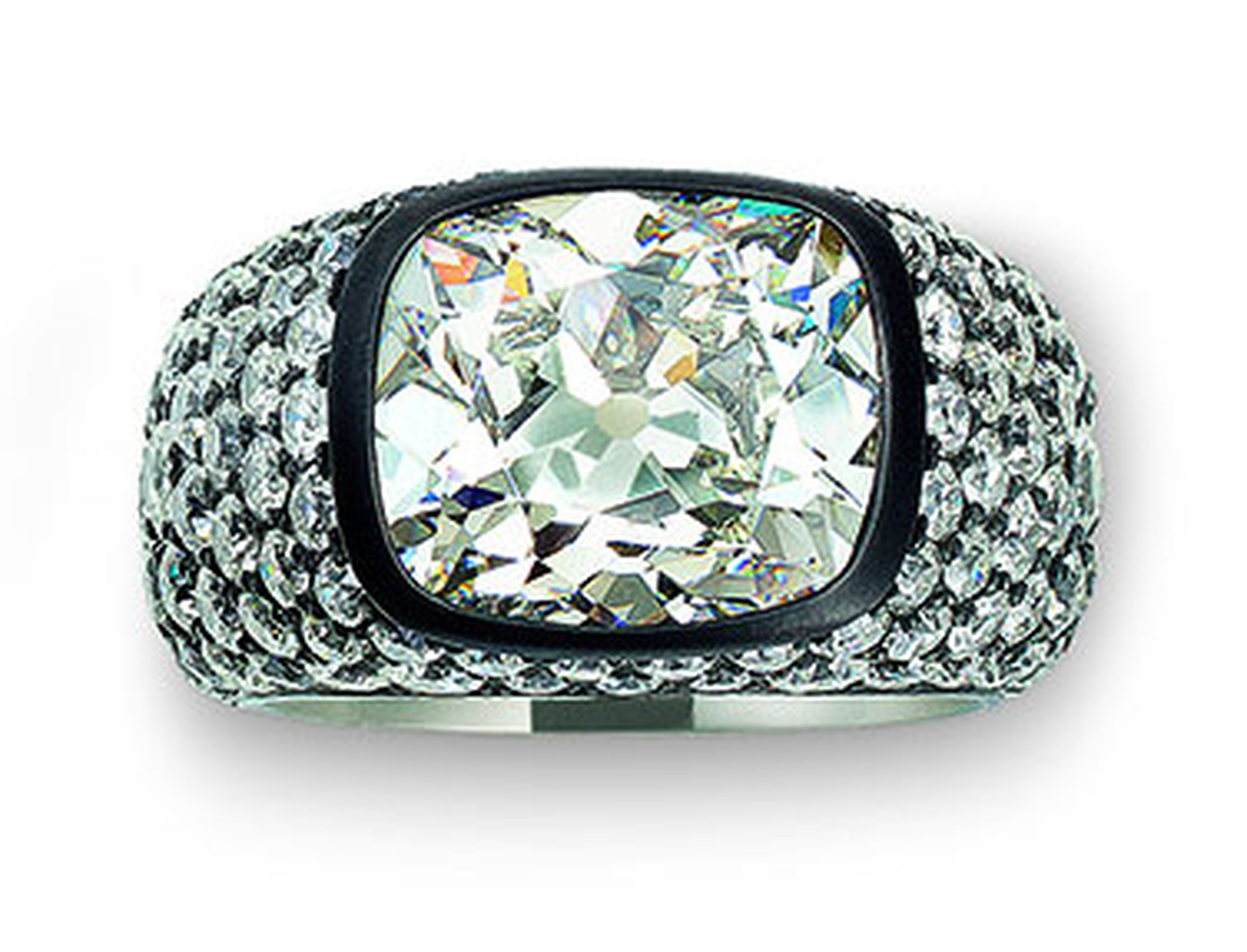 Hemmerle-ring-black-finished-silver-white-gold-diamond-cts-old-cut-diamonds-0119