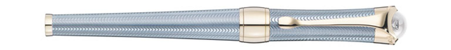 Montblanc Mediterranee pen in silver with blue lacquer