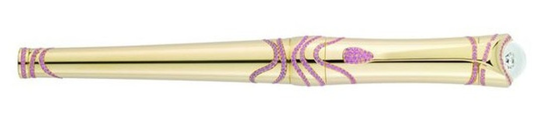 Montblanc Etoile pen in yellow gold with pink diamonds