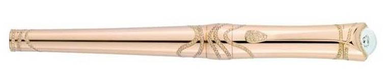 Montblanc Etoile pen in rose gold with cognac diamonds