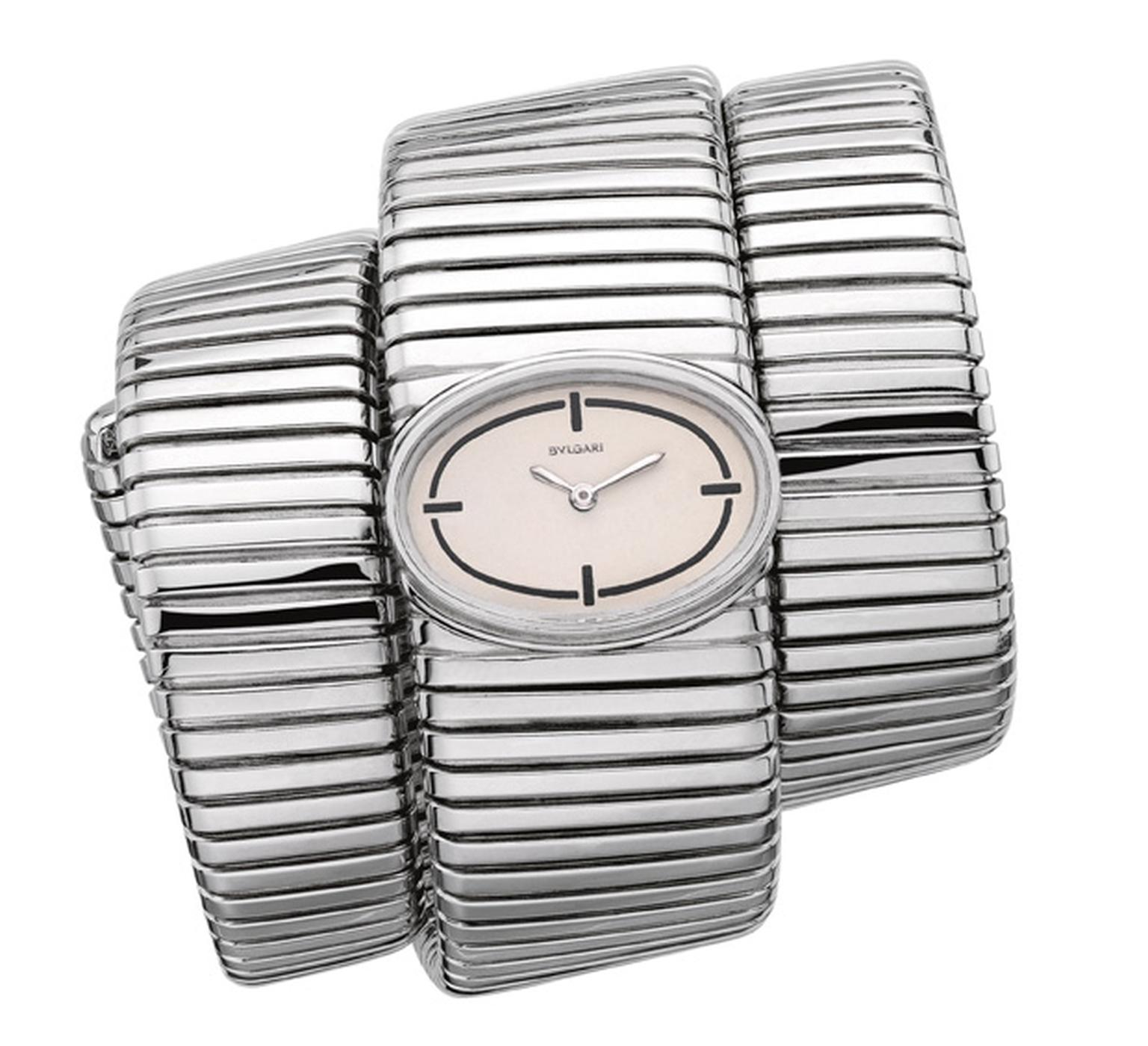 Bulgari white gold Tubogas watch 1965