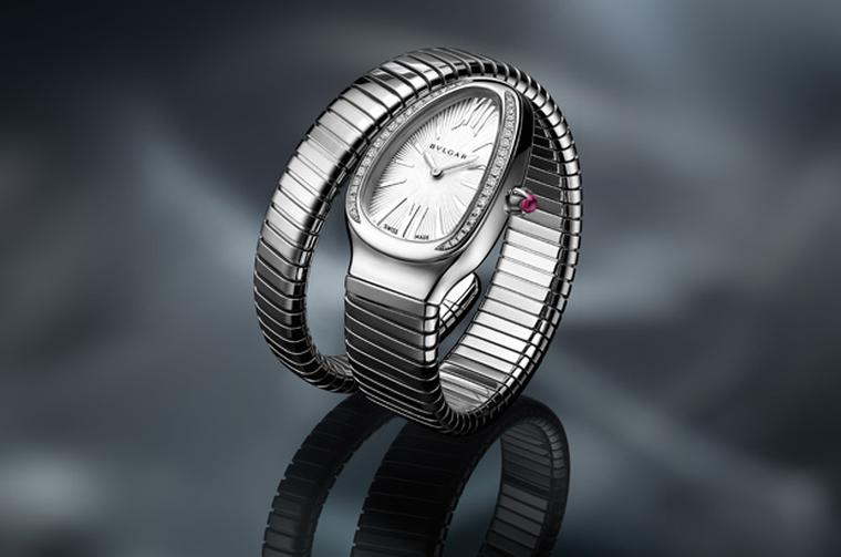 Bulgari Serpenti single coil in stainless steel