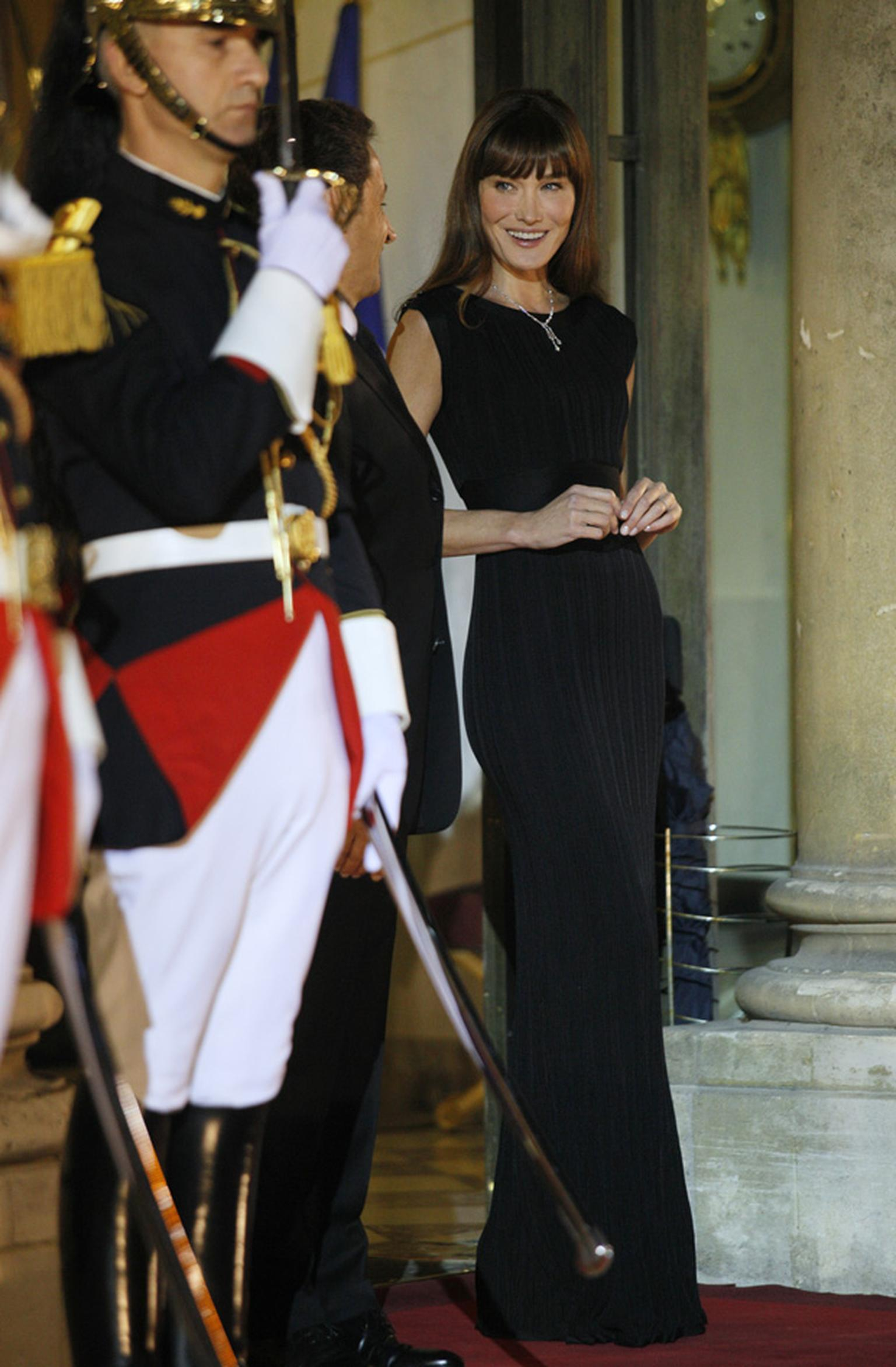 Carla Bruni-Sarkozy at the Elysée Palace on 4th November 2010