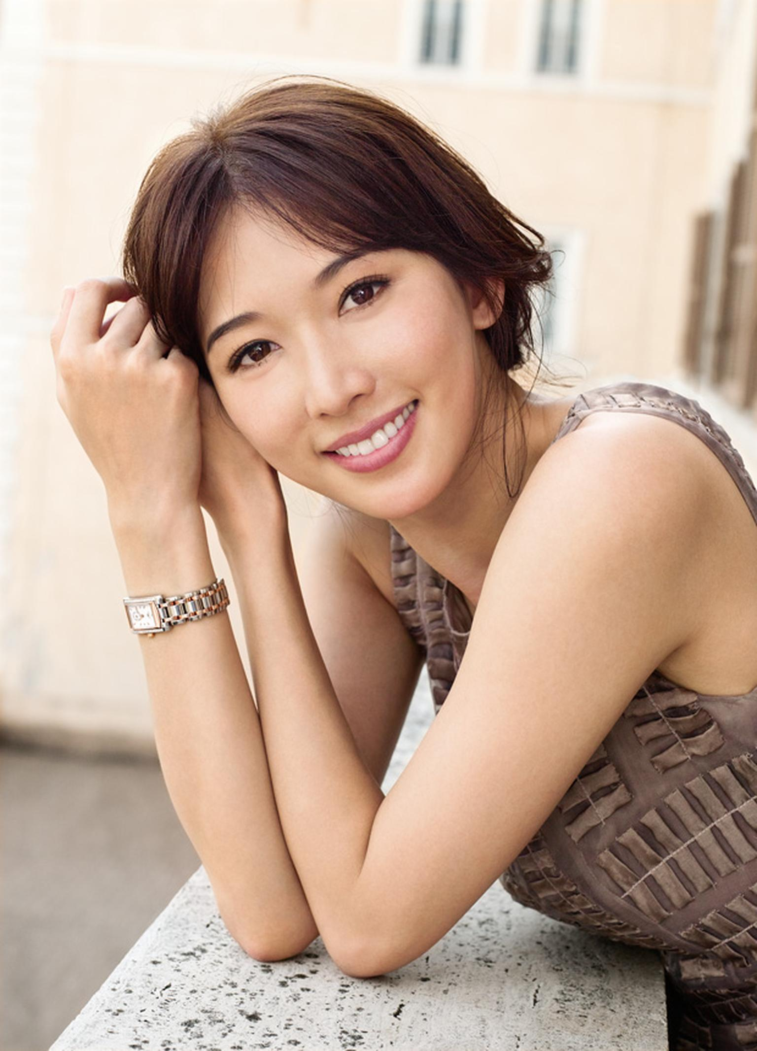 Chi Ling Lin wears Longines
