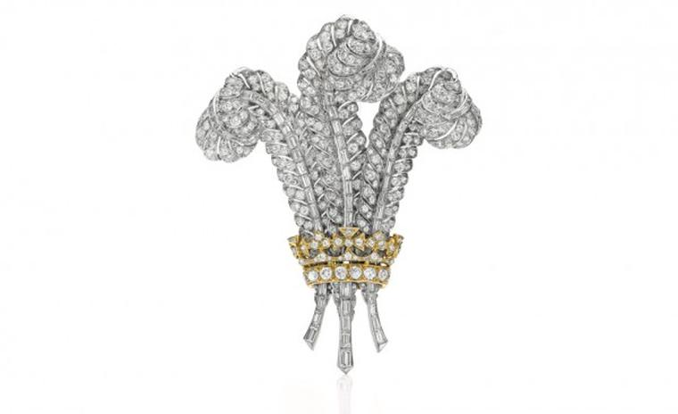 Prince of Wales brooch once belonged to the Duchess of Windsor.