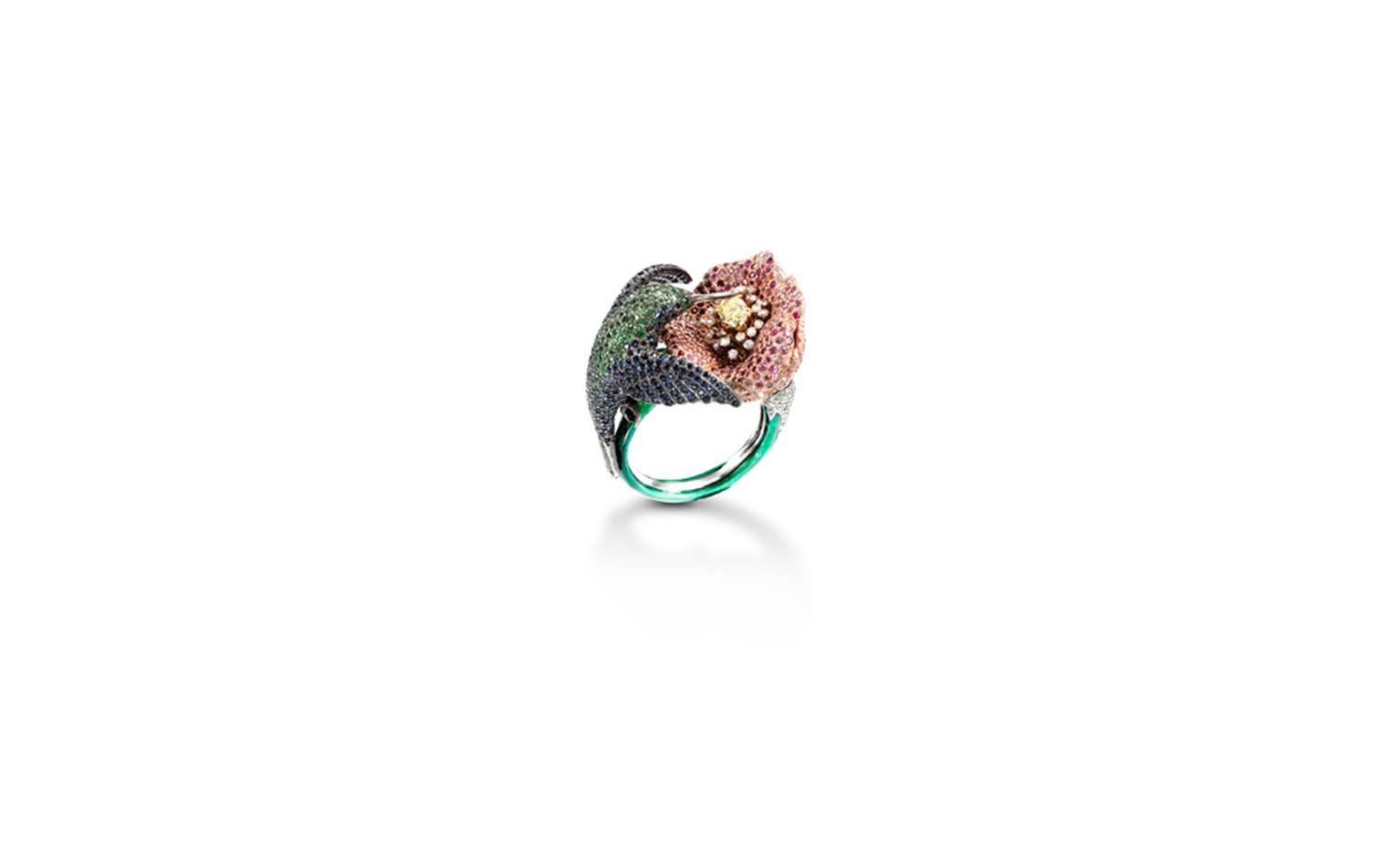 Pragnell humming bird ring