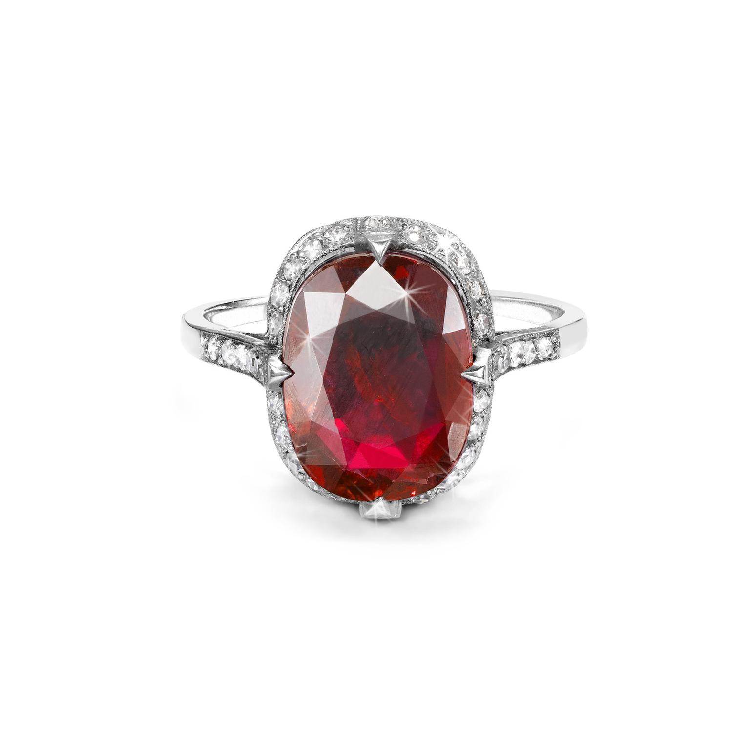 Pragnell Burmese Ruby ring