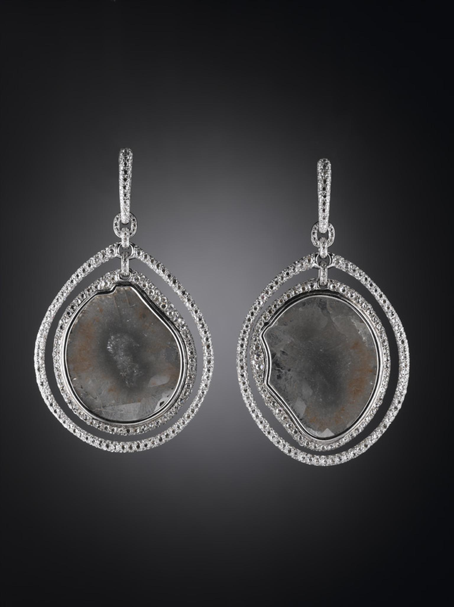 Carnet Silk Mist  mackel diamond earrings