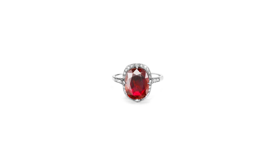 Pragnell Burmese ruby and diamond ring