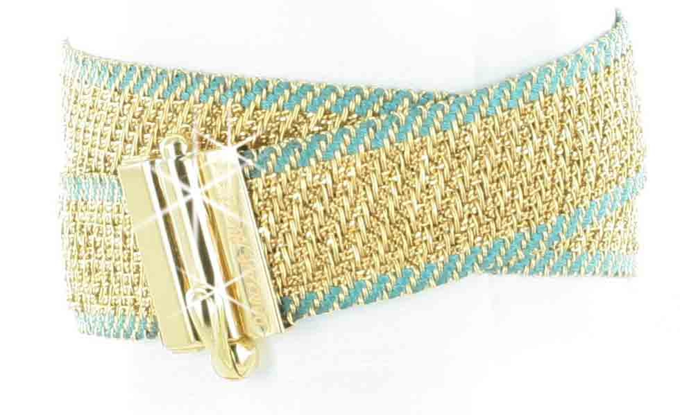 Carolina Bucci woven gold double bracelet