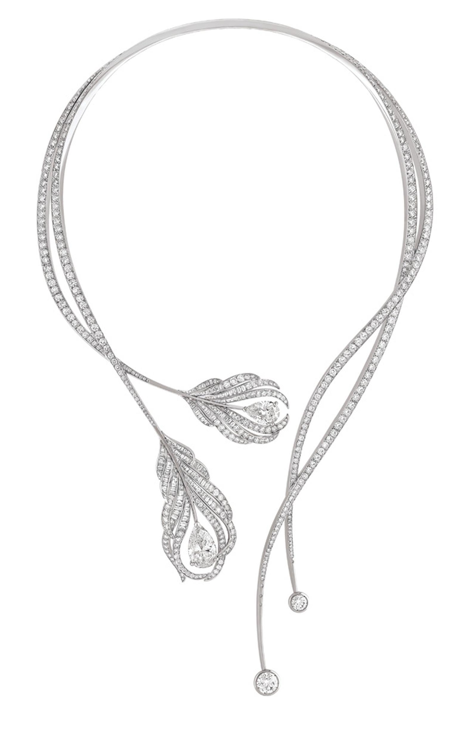 Chanel's new Plume Necklace in diamonds and white gold inspired by the 1932 exhibition