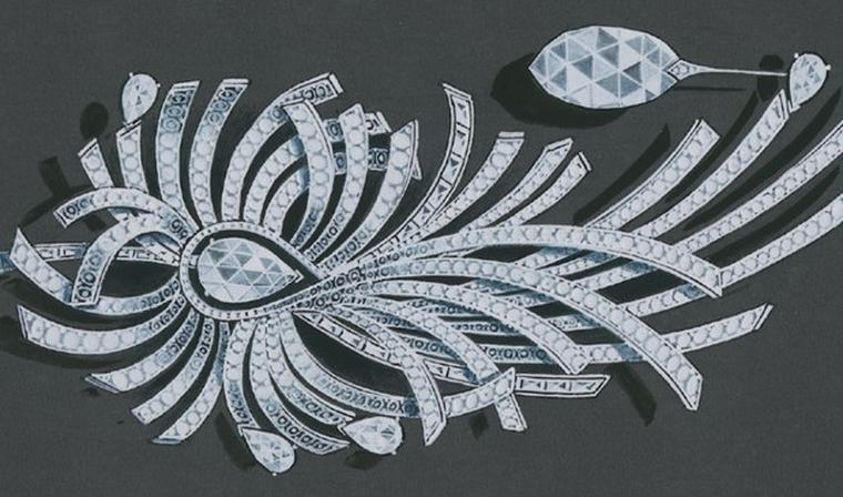 Chanel illustration of Aigrette brooch