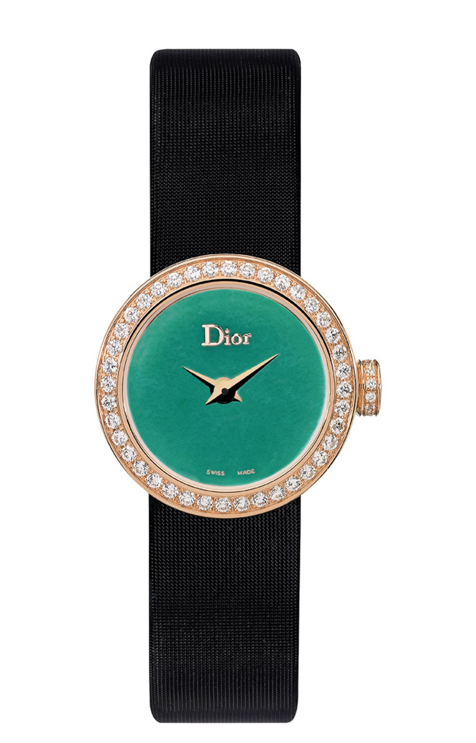 La Mini D de Dior watch with jade dial