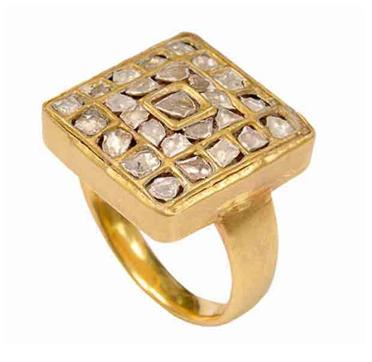 Pippa Small rough diamond ring