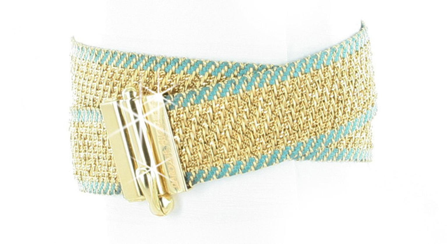 Caroline Bucci woven gold and silk bracelet
