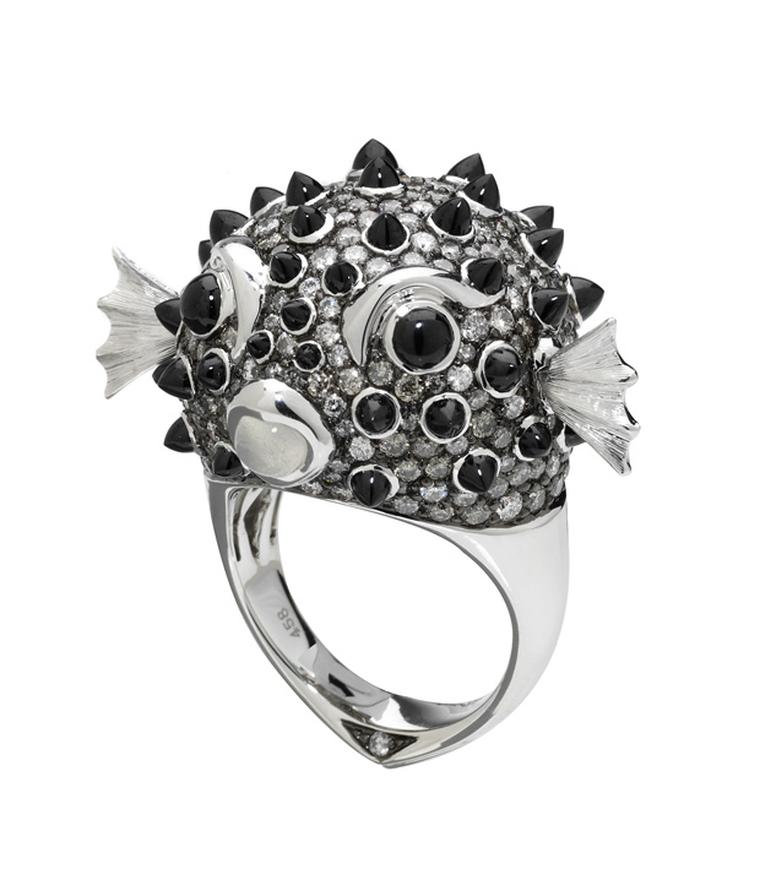Stephen Webster In the Deep Puffer Fish ring