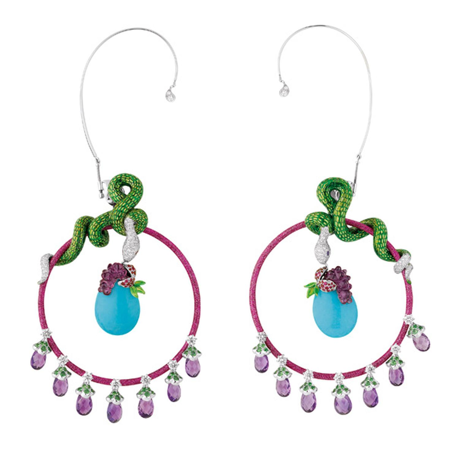 Dior Coffret de Victoire snake earrings
