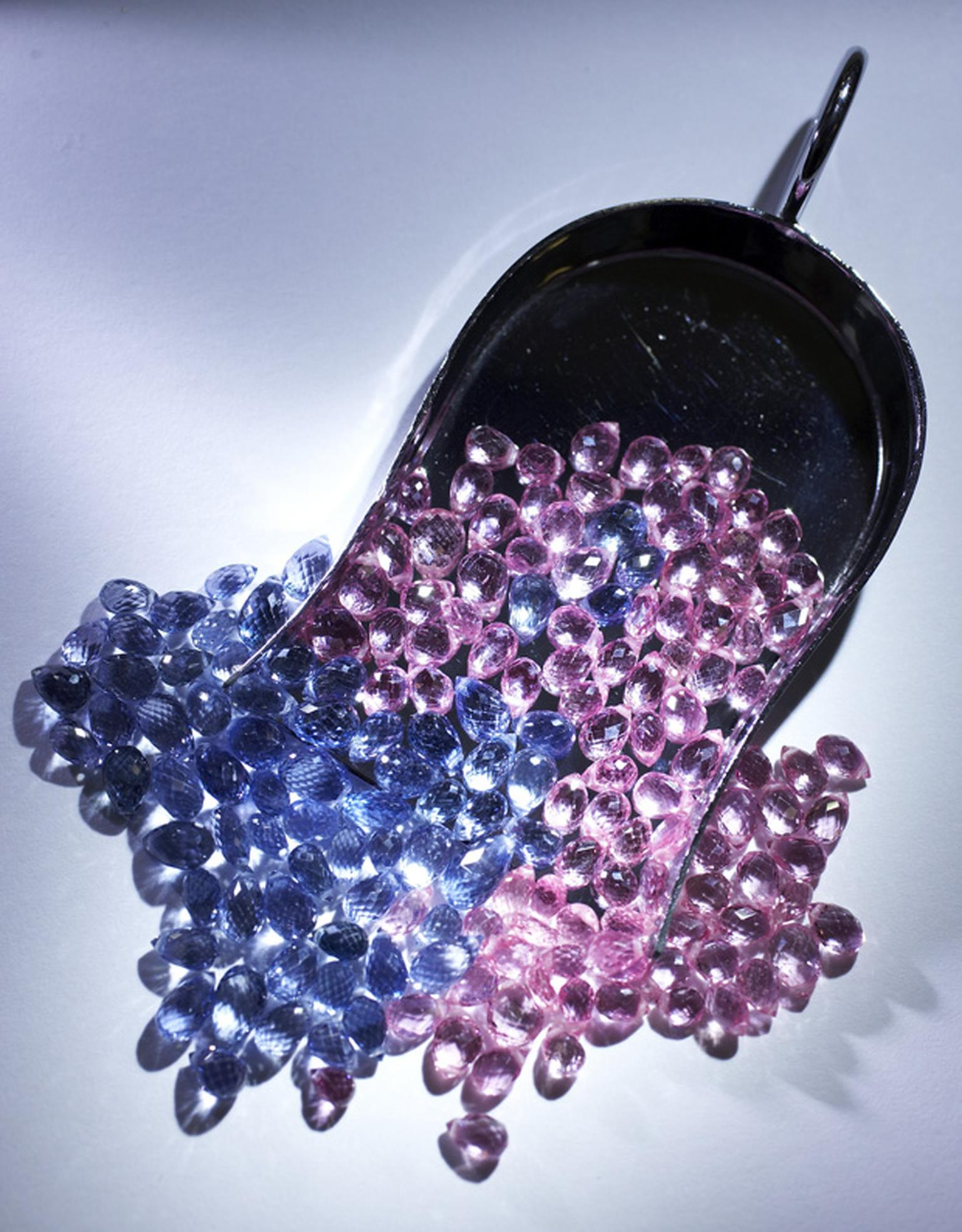 Blue and pink sapphires