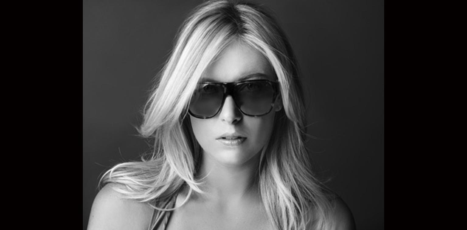 Maria Sharapova with her TAG Heuer sunglasses