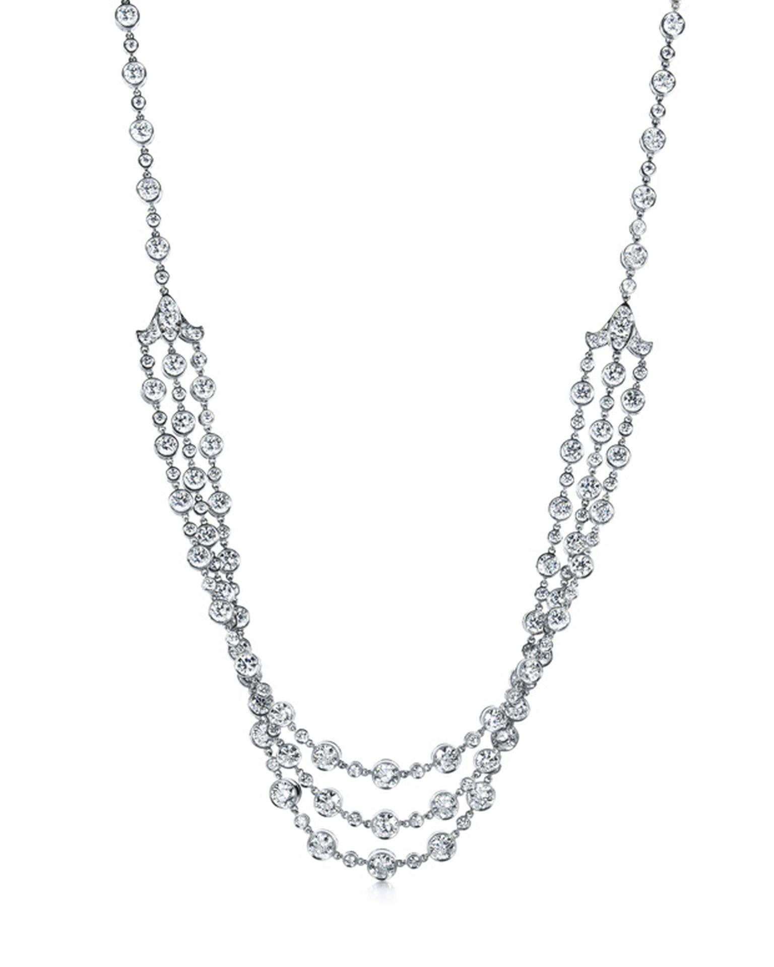 Tiffany & Co Fleur de Lys diamond necklace