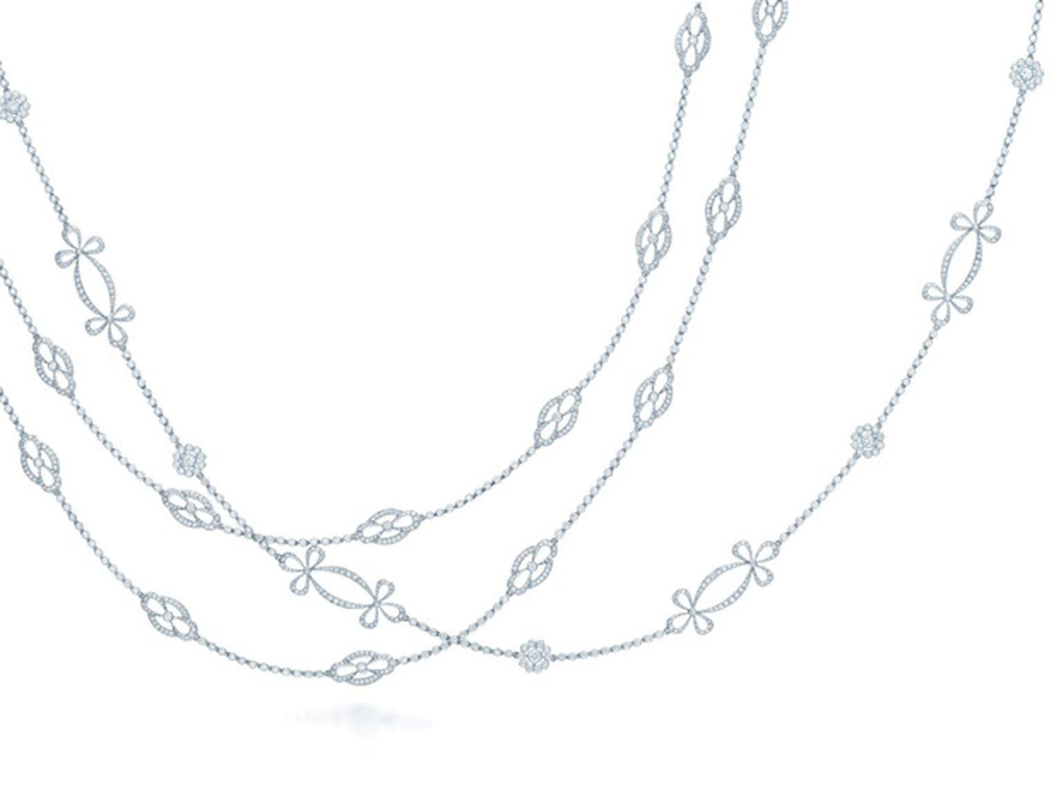 Tiffany & Co. Opera length diamond necklaces