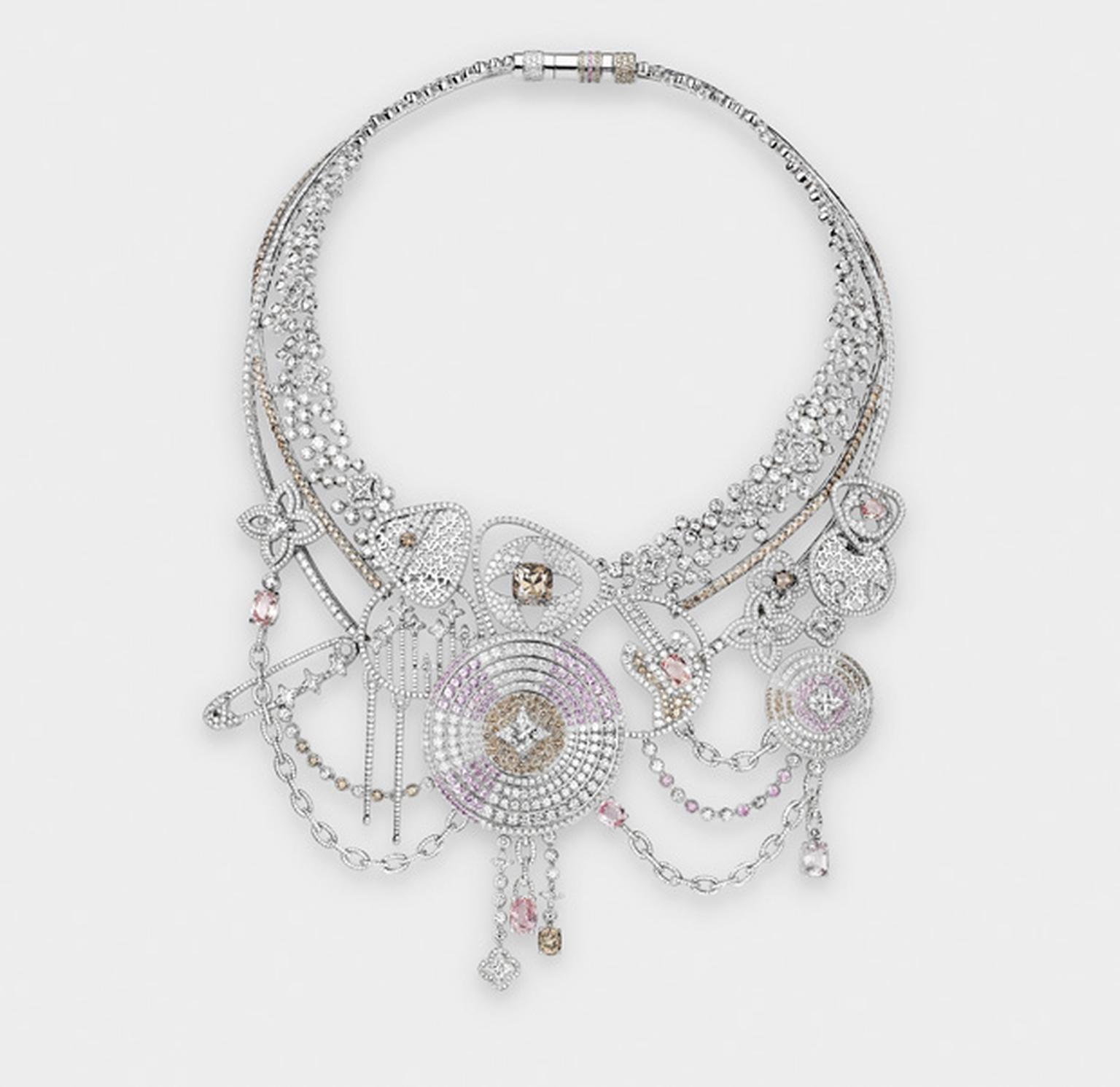 Louis Vuitton L'Ame du Voyage diamond rock-inspired necklace