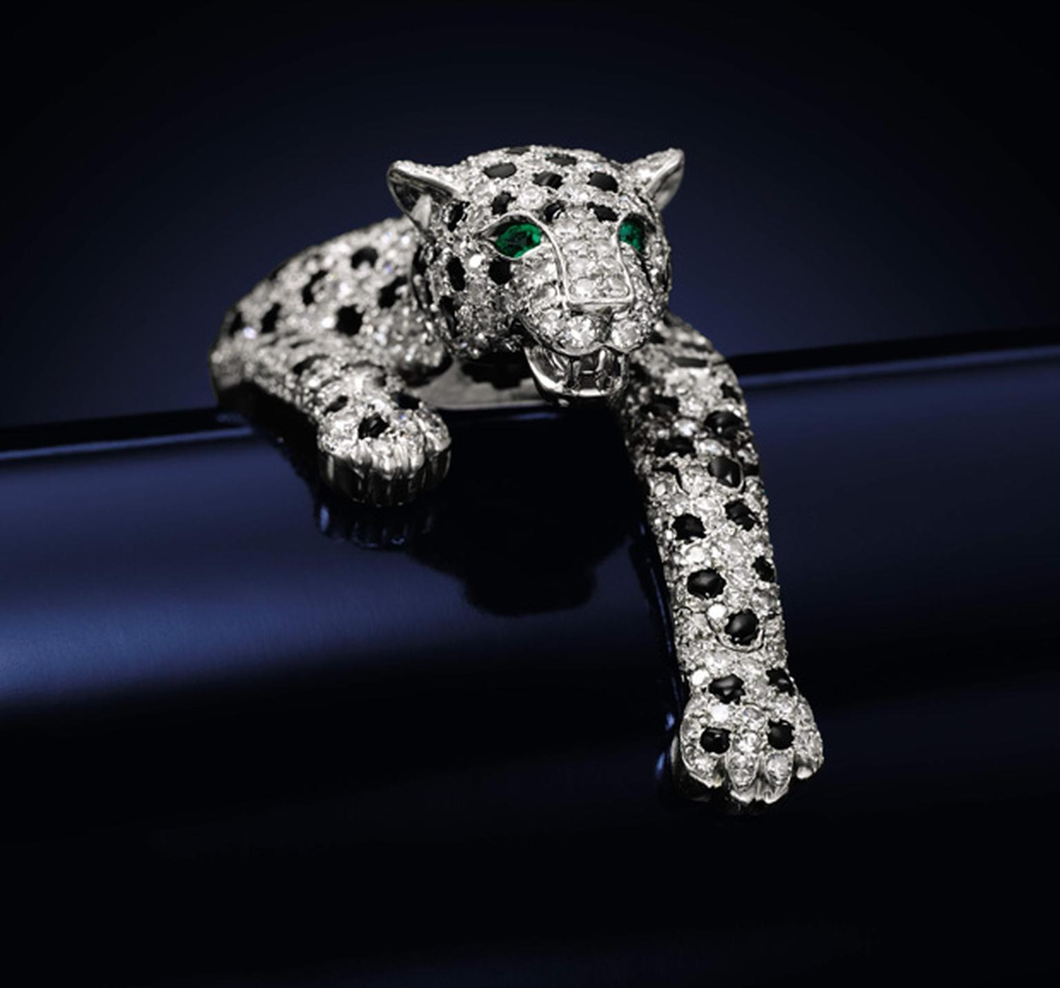 Sotheby's Duchess of Windsor Jewellery Auction Lot-19 Cartier Panther Bracelet