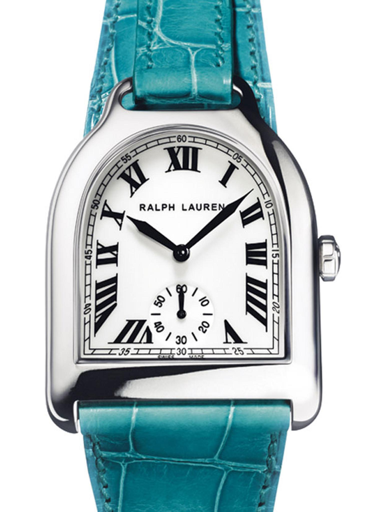 Ralph Lauren Stirrup watch in white gold