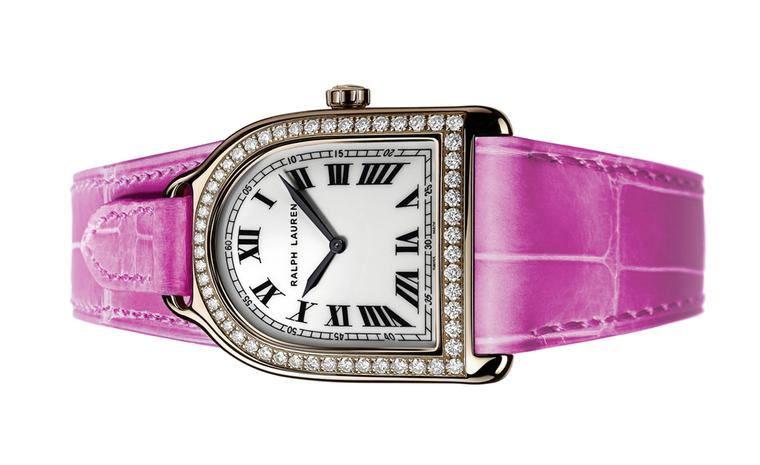 Ralph Lauren Pink Pony Stirrup watch