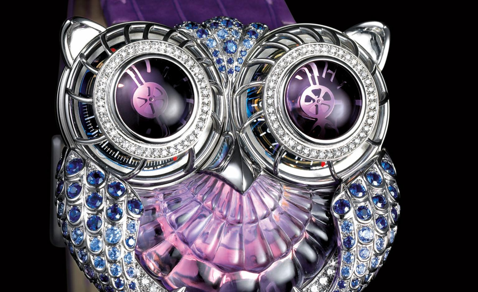 Max Busser's Owl watch in collaboration with Boucheron