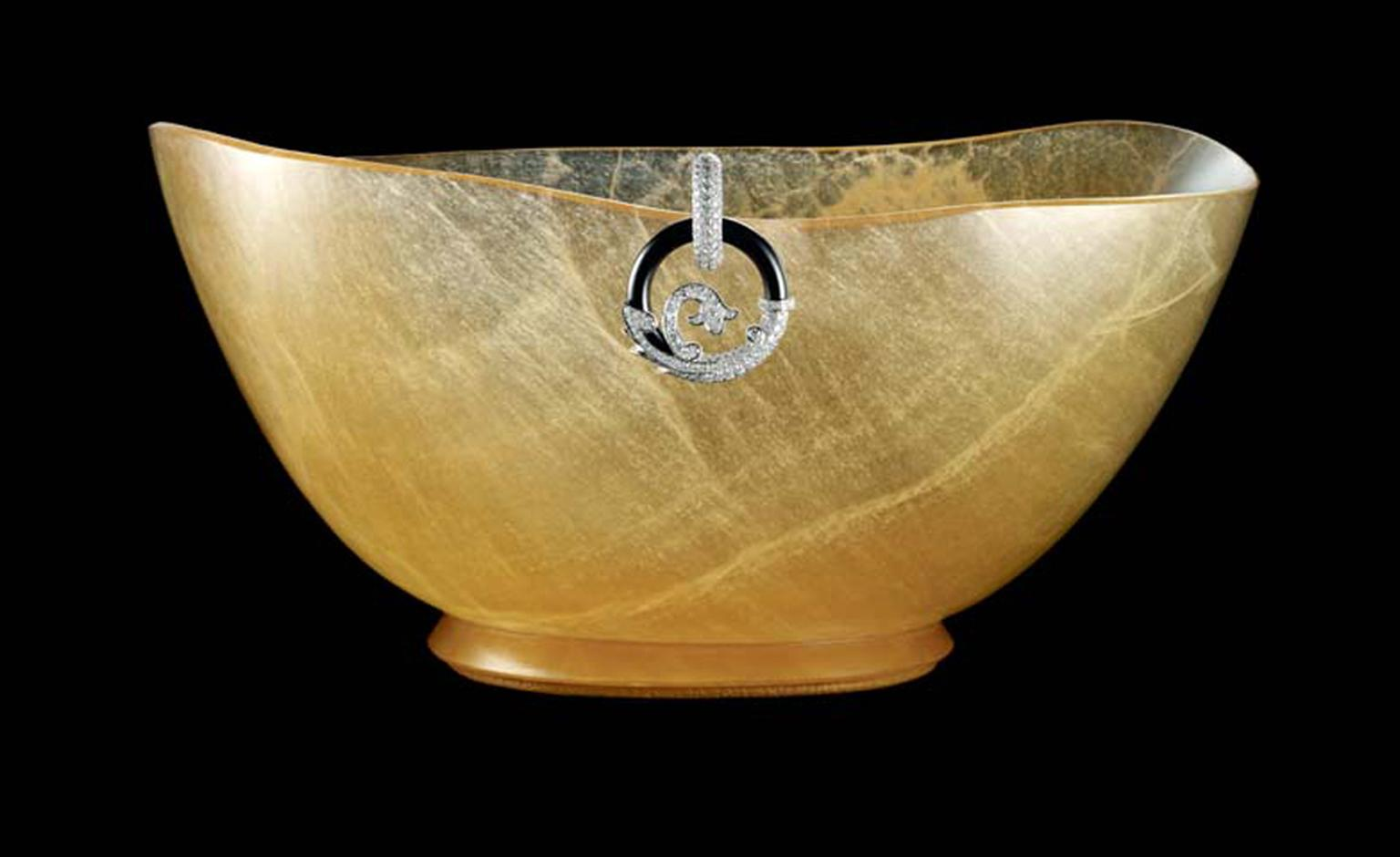 Cartier Precious Objects bowl with onyx and diamond detail