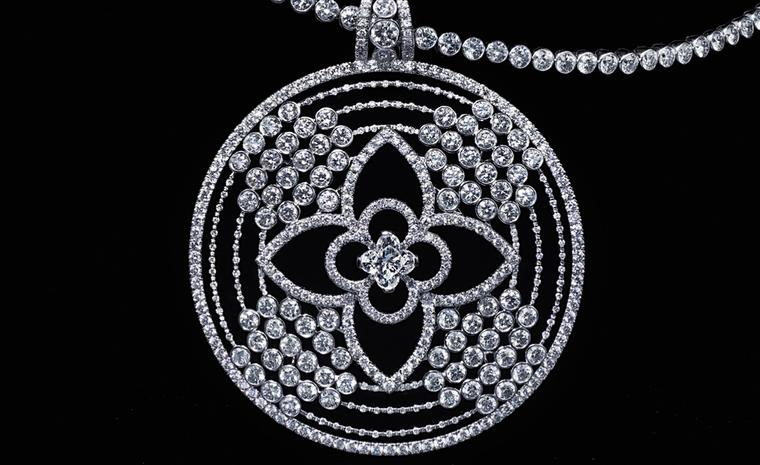 Louis Vuitton Les Ardentes necklaces with 15.27 carats of diamonds