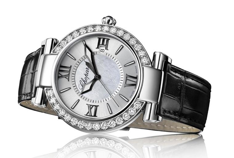 Chopard Imperiale in stainless steel with diamond bezel
