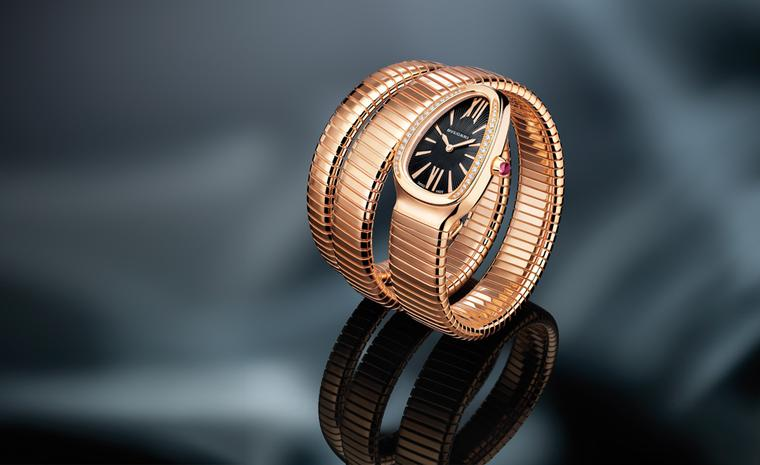 Bulgari's new interpretation of the Serpenti in rose gold