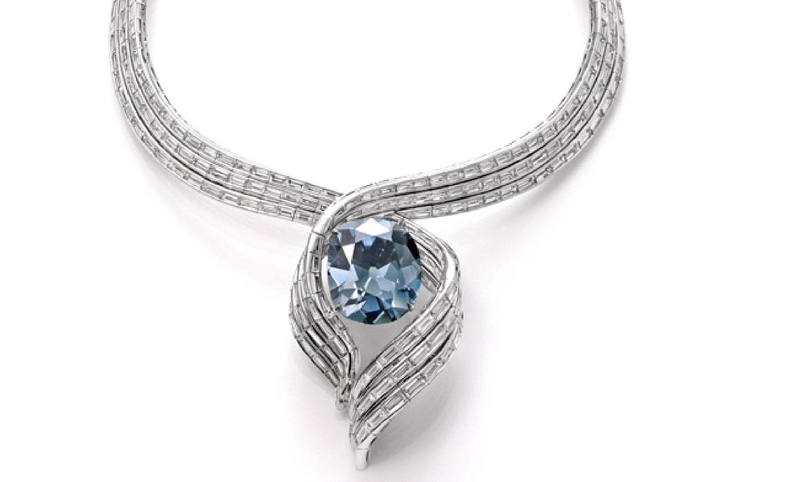 "The Hope Diamond in its new setting ""Embracing Hope"""