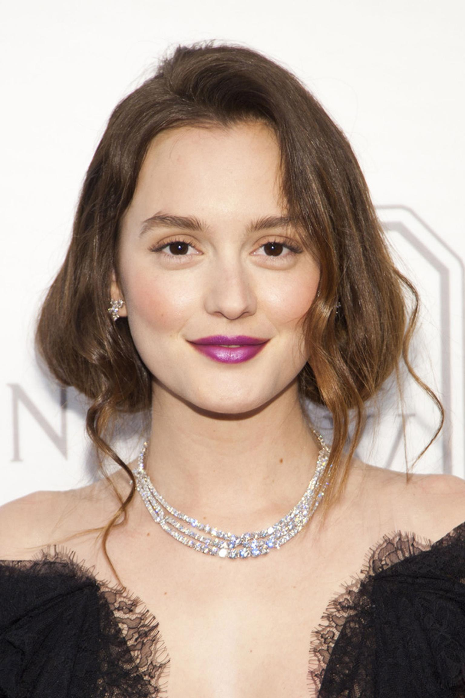Leighton Meester wearing Harry Winston at Court of Jewels