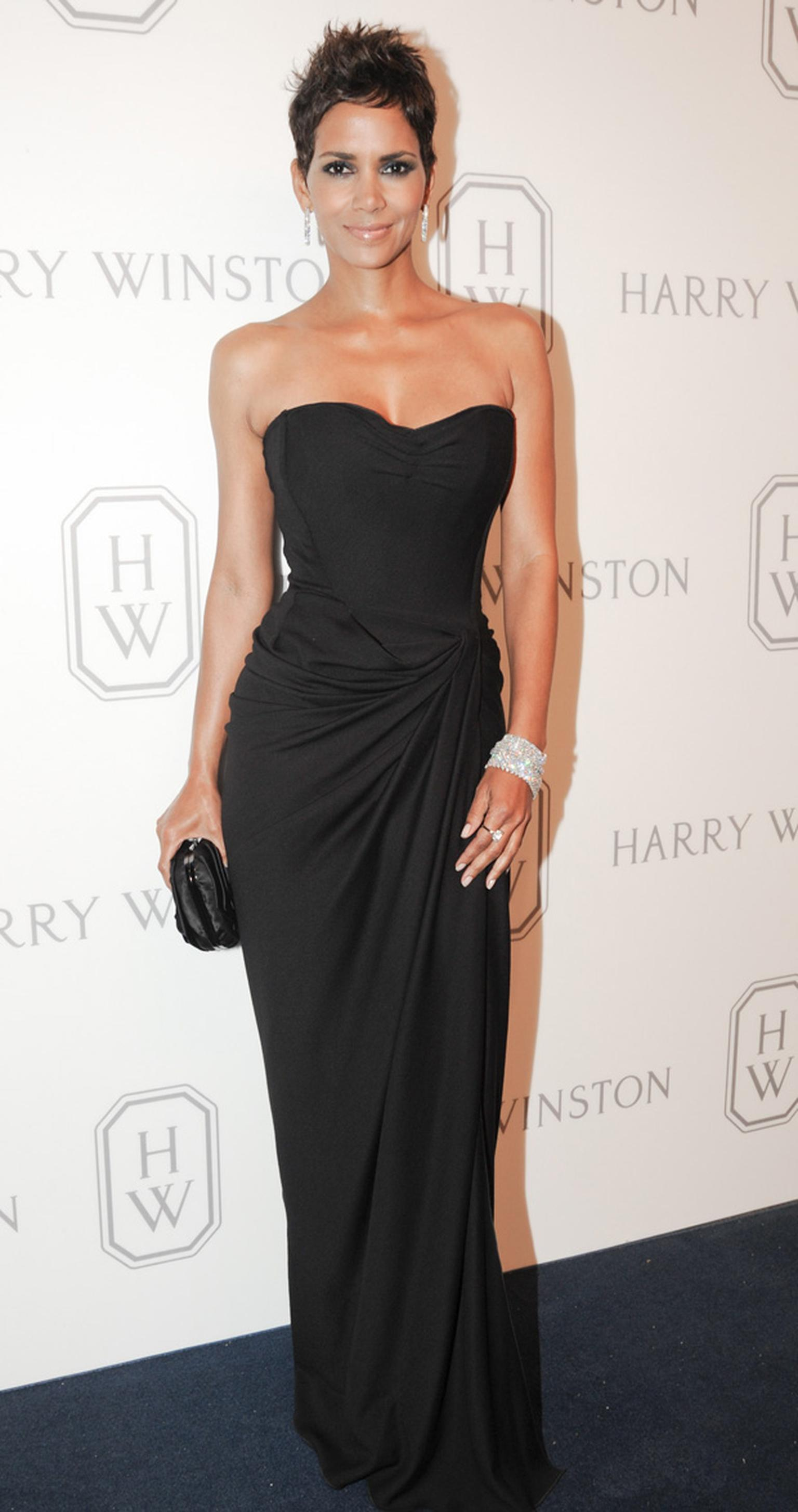 Halle Berry wearing Harry Winston at the Court of Jewels in New York