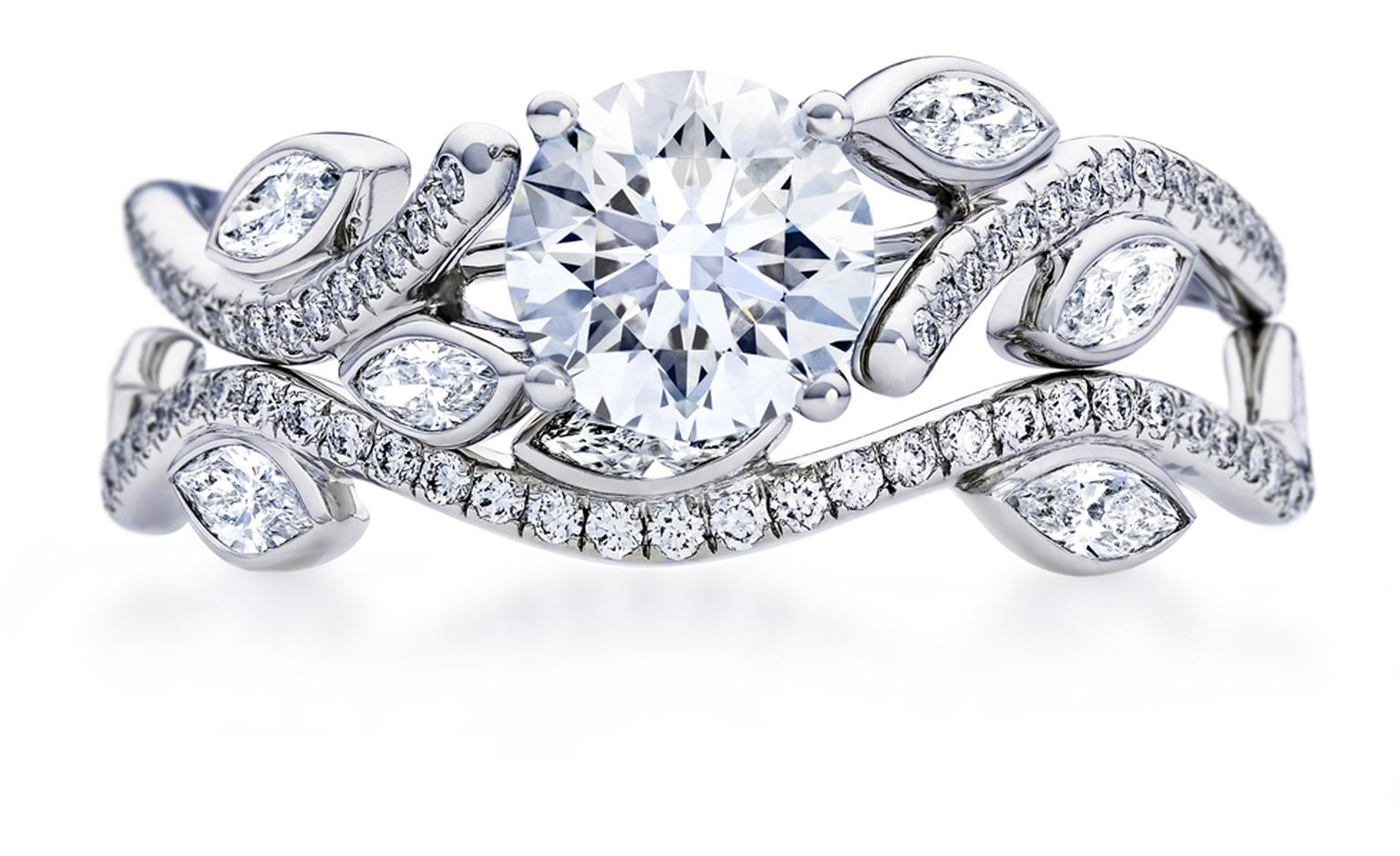 De Beers Adonis rose,  1-carat central diamond £8,450