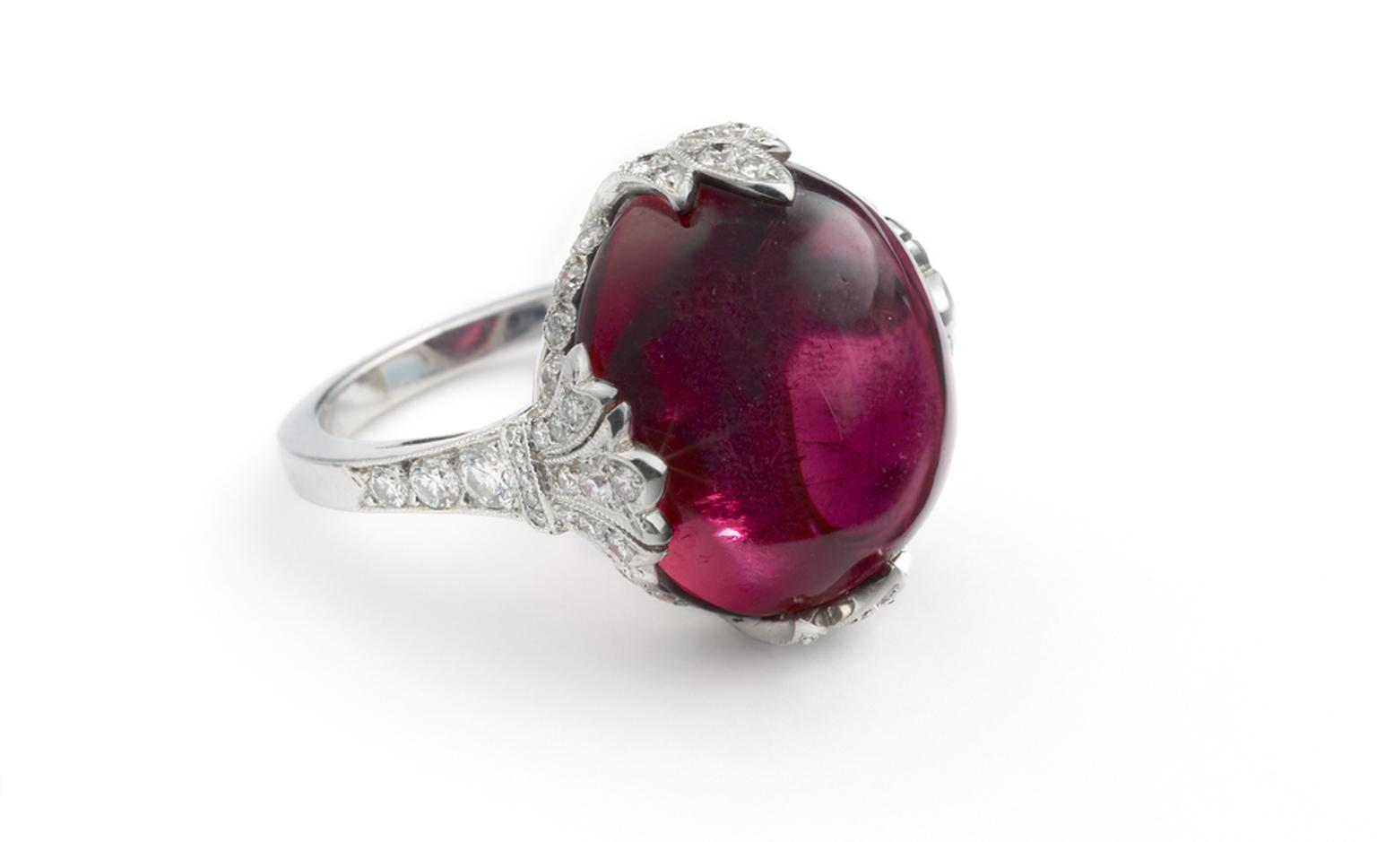 The Gem Palace of Jaipur at Harry Fane, rubellite ring. £21,700.00