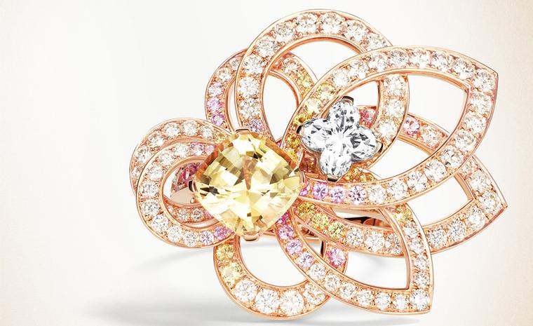 Louis Vuitton, L'Ame du Voyage yellow diamond ring in rose gold POA