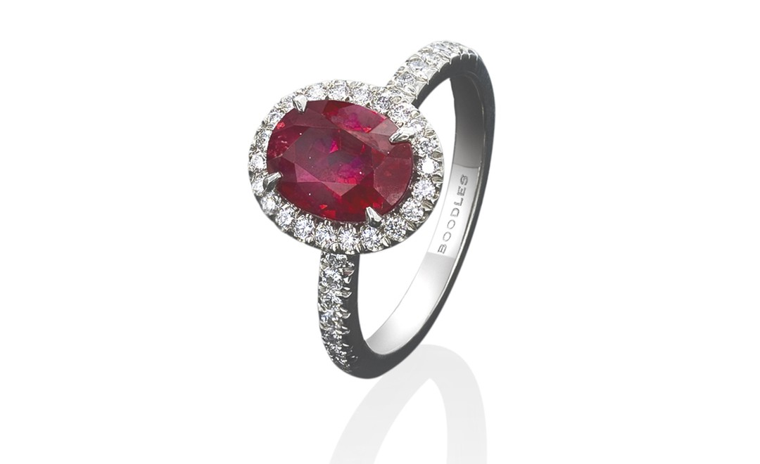 Boodles, Oval ruby cluster ring £30,000