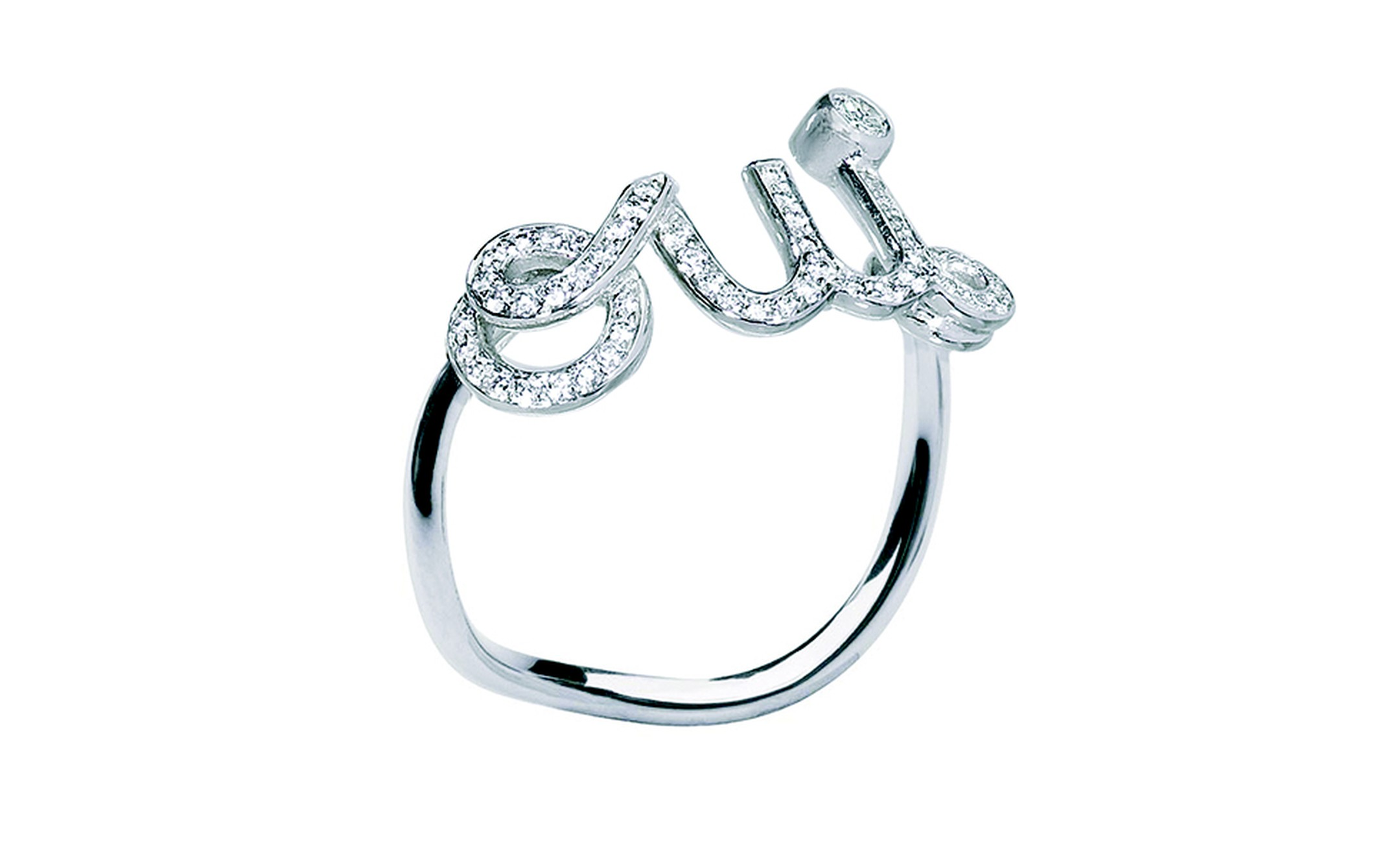 Dior Fine Jewels 'Oui' ring in white gold and diamonds £1,850