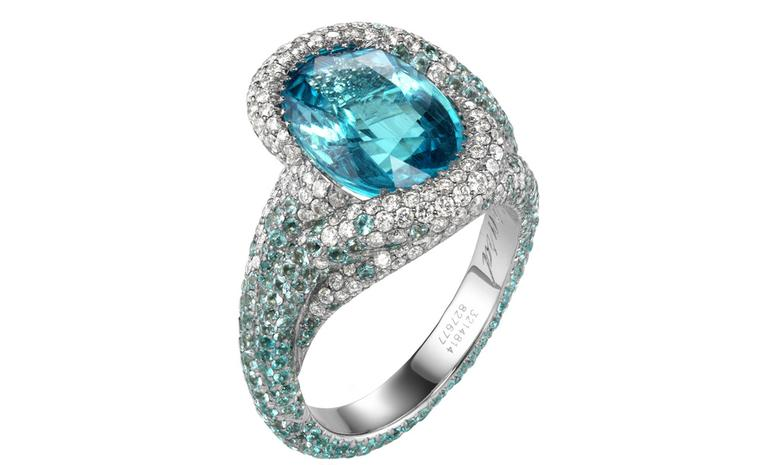 Chopard Paraiba tourmaline, tourmaline and diamond ring POA