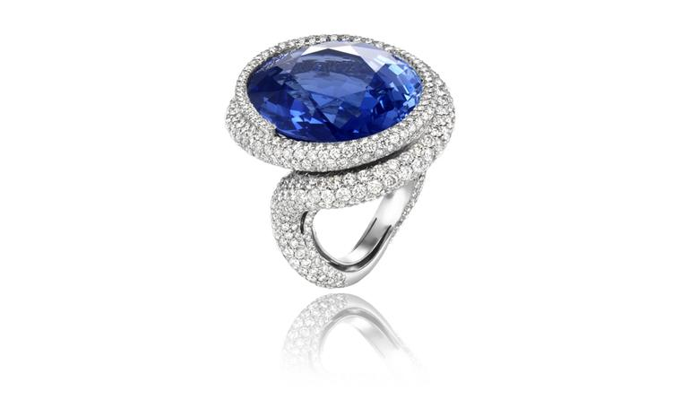 Chopard, one-off blue 43.67-carat sapphire ring POA
