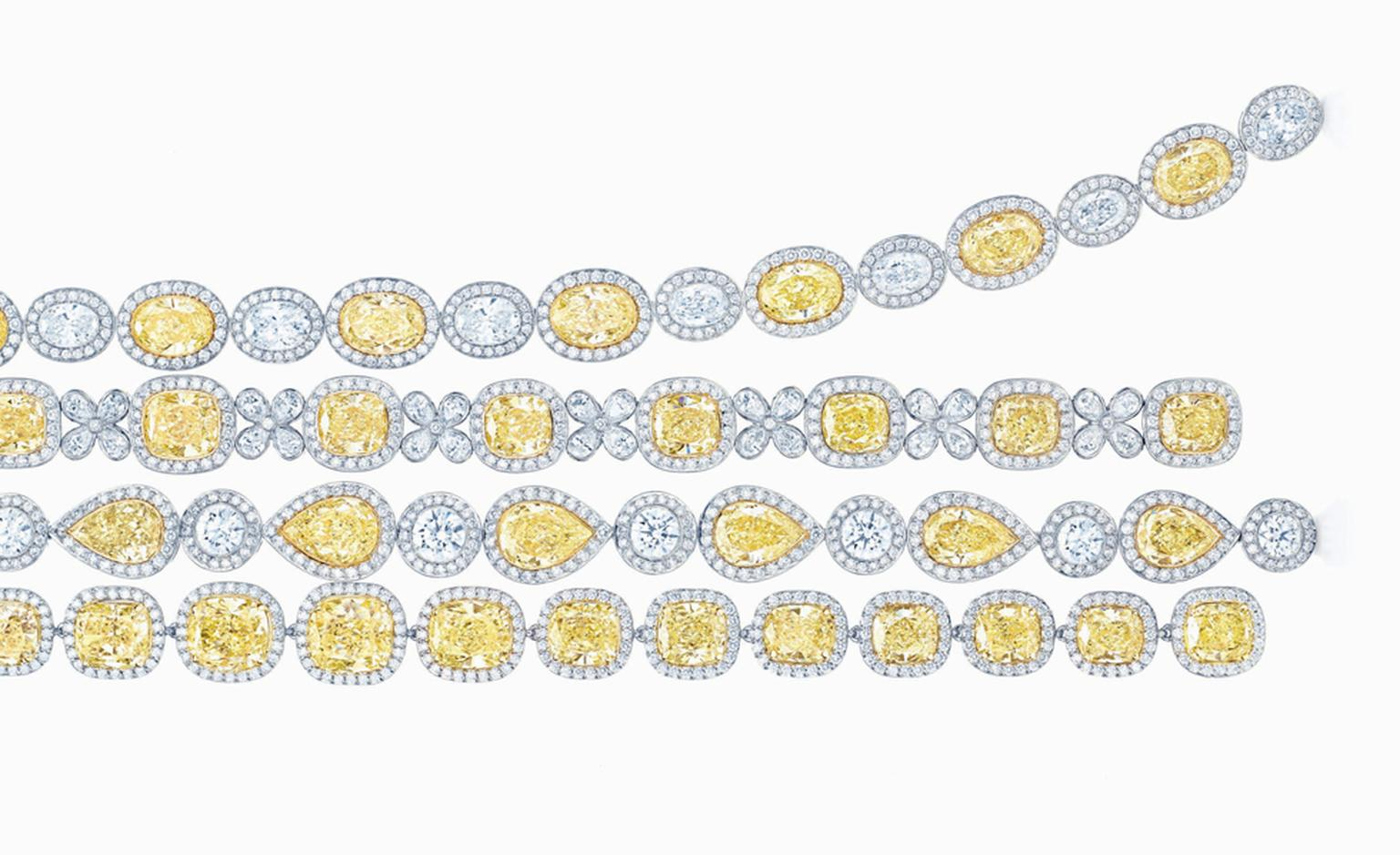 Tiffany & Co, yellow diamond bracelets: price on application