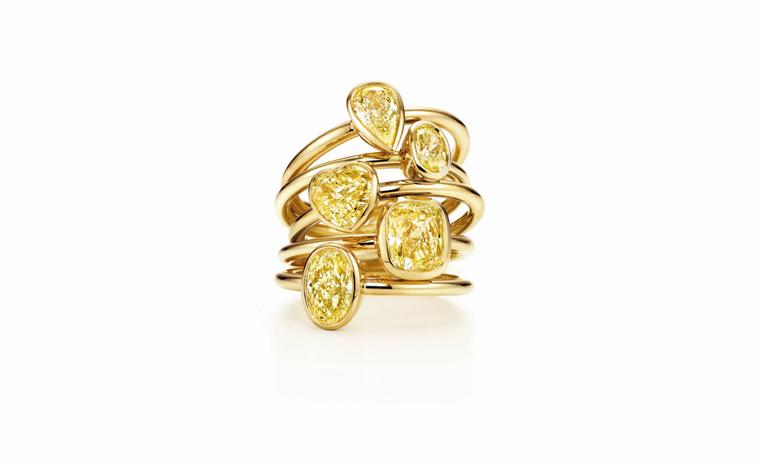 Tiffany & Co, Bezet stack rings from £1,475