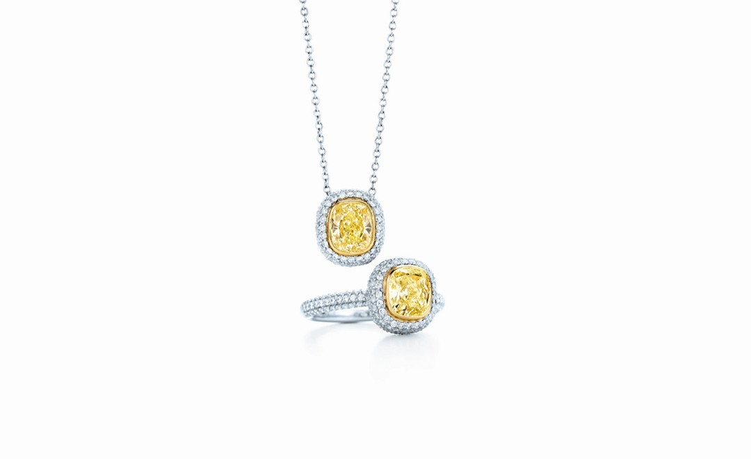 Tiffany & Co, yellow diamond and pendant ring £14,800, £17,500