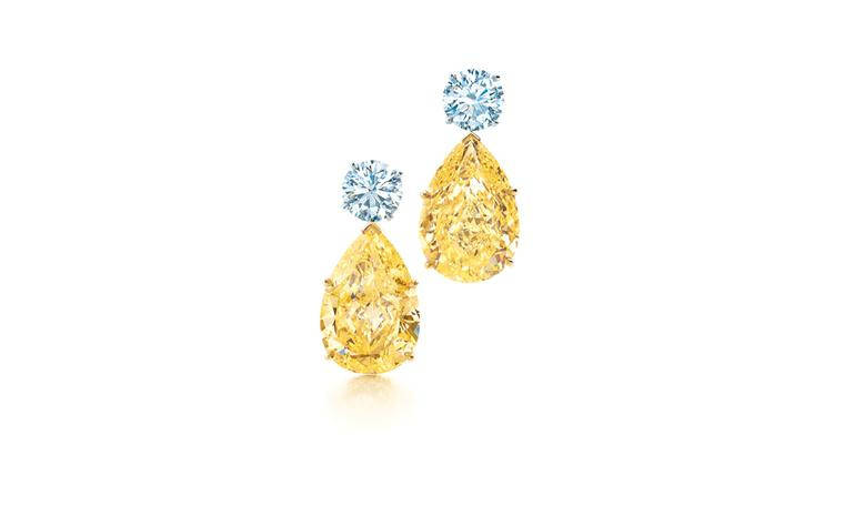 Tiffany & Co yellow and white diamond earrings in platinum £1,517,500