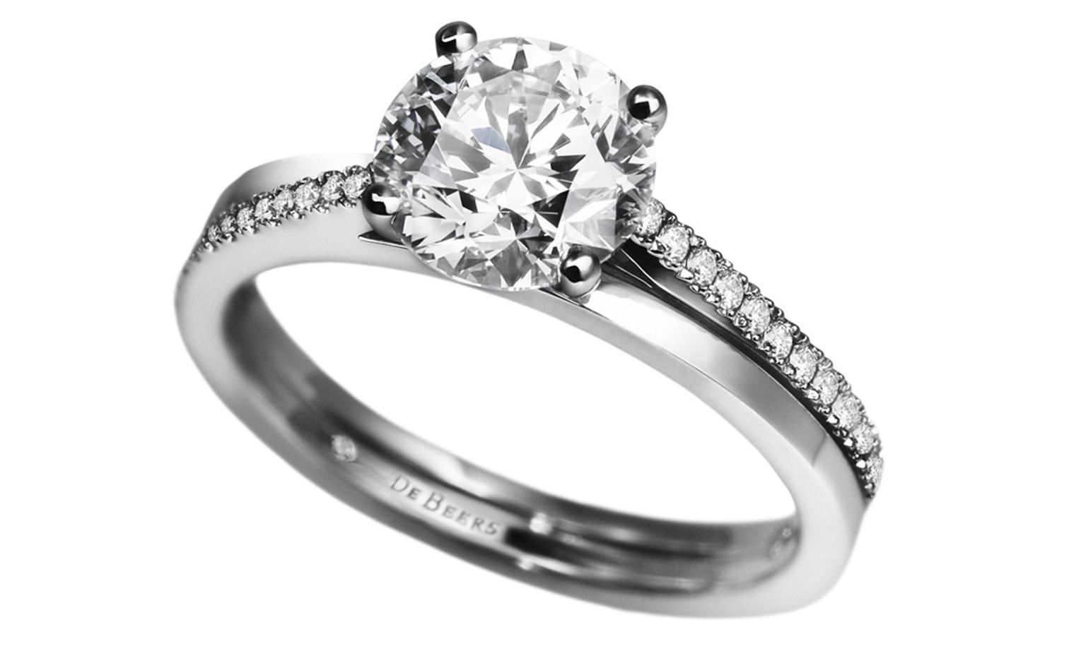 De Beers Promise ring from £2,600 for 0.4 carat diamond